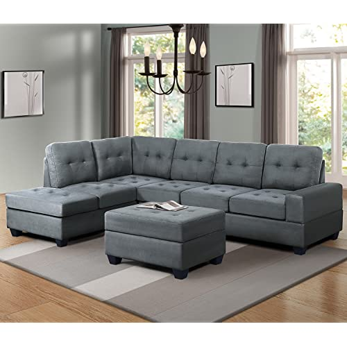 Chaise Sectional Sofas Amazon Com