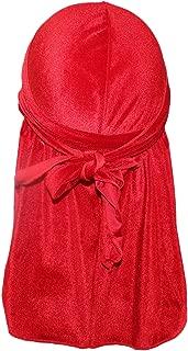 Luxury Velvet Wave Durag 1PCS/2PCS/3PCS - Silky Durag Headwraps Extra Long Tail Wide Straps 360 Waves …
