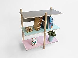 Pila Libreria - Stack Bookshelf - Olandese - Design - a mano - Living - Elettrodomestici - Legno - Modulare - Lorier