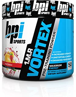 BPI Sports 1.M.R Vortex Pre Workout Powder, Non Habit Forming, Sustained Energy & Nitric Oxide Booster, Fruit Punch, 5.3 Ounce