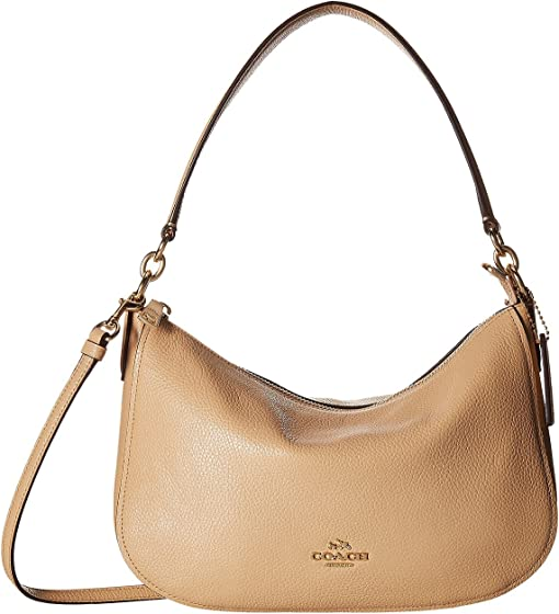 COACH Pebble Chelsea Crossbody,LI/Beechwood
