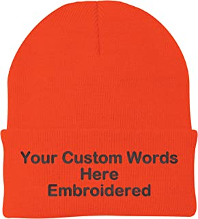 f1ac3490848 Unameitcustom Customize Your Beanie Personalized with Your Own Text  Embroidered