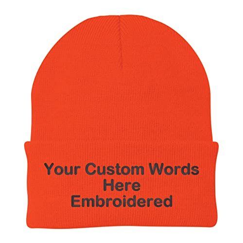 8550f5f002684 Unameitcustom Customize Your Beanie Personalized with Your Own Text  Embroidered