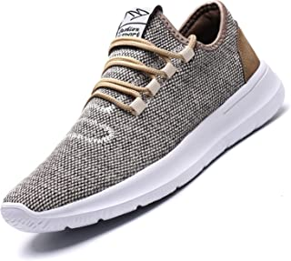 Srenket Mens Casual Athletic Sneakers Comfortable Running Shoes Light Tennis Zapatos Footwear for Men Walking Workout Beige42