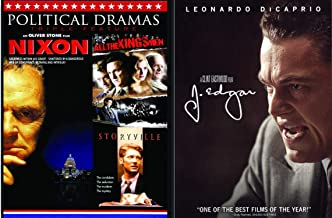 American Politics Dramas from Nixon to J. Edgar Hoover to their rivals with DVD Political Movies All The King's Men and Storyville 4-Film Bundle