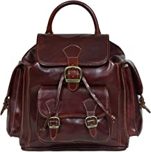 I Medici Rugged Elegance Italian Leather Backpack(IM6830) in Brown