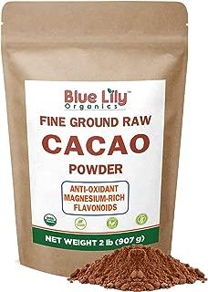 Cacao Powder (2lb) - Cocoa Chocolate Substitute - Raw, Organic Cacao Powder from Superior Criollo - Vegan, Sugar Free, Gluten Free, Non GMO, Non Dutched by Blue Lily Organics