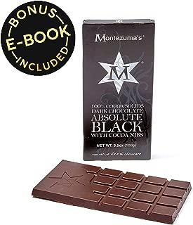 Keto Diet Dark Chocolate Sugar-Free - Ketogenic, Paleo, Vegan, Primal + High Fiber - No Soy, Gluten, Dairy, Sugar Alcohols, or Artificial Sweeteners | 100% Black w Cacao Nibs (6 pack)