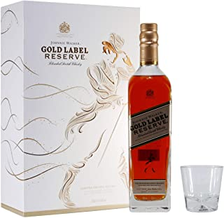 Johnnie Walker Gold Label, Geschenkpackung mit 2 Gläsern Blended Whisky 1 x 0.7 l