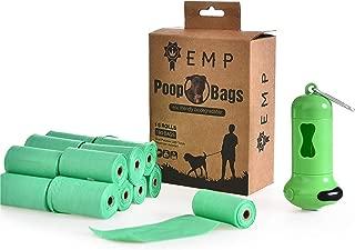 Dog Poop Bag Kit | Includes Dispenser, Flashlight & Clip | Eco Friendly & Biodegradable | Premium Quality Biodegradable Poop Bags | Heavy Duty, Smell & Leak Proof | 15 Rolls of 12 x XL Poop Bags