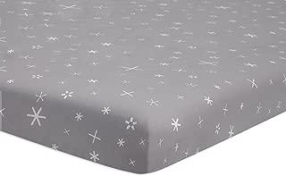 Babyletto Fitted Mini Crib Sheet, Galaxy Galactic Grey Stars