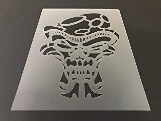 Skull Stencil #18 Reusable 10 mil Thick 8in x 10.5in sheet