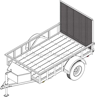 5′ x 8′ Utility Trailer Plans – 3,500 lb Capacity | Trailer Blueprints Model U60-96-35J