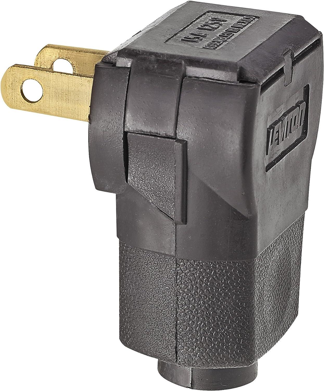 Cooper White Flat Top Academy Plug 10A 125V Non-Polarized SPT-1 1-15P BP2601W