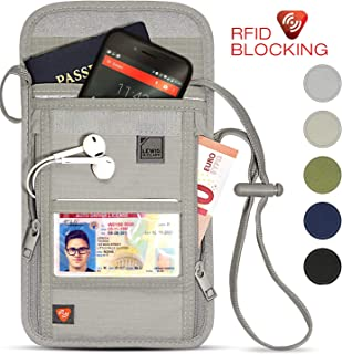 Lewis N. Clark RFID Blocking Stash Neck Wallet, Travel...