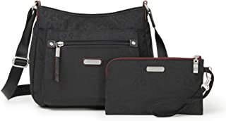 Baggallini Women's New Classic Uptown Bagg with RFID Phone Wristlet