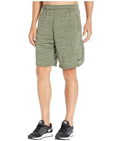 Nike Dri-FIT Heathered 9 Training Short (Cargo Khaki/Black) Men