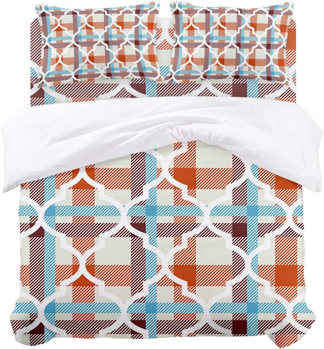 service Darlicent Full Rare Bedding Duvet Cover 4 Moroccan Trelli Piece – Set