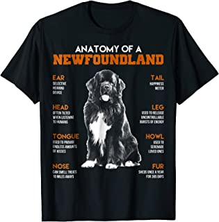Anatomy Of A Newfoundland Dogs T Shirt Funny Gift