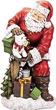 Napco Imports Santa with Mailbox Westie 31.5 Inch Resin Stone Decorative Christmas Statue