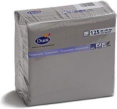 DUNI カラーナプキン 2PLY 4面折 グラニテグレー (グレー) 40×40cm 125枚入