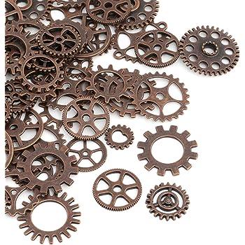 Xuxuou Zahnräder Gothic Steampunk Zahnräder Retro Metall