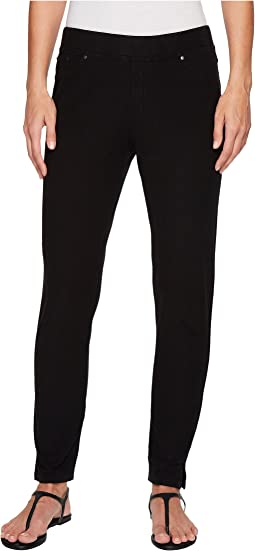 Stretch Knit Twill Skinny Ankle Length Pants