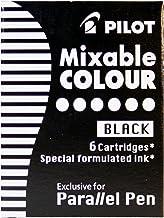 Pilot Mixable Colour - Recambio para bolígrafos Pilot Parallel Pen (6 Unidades), Negro