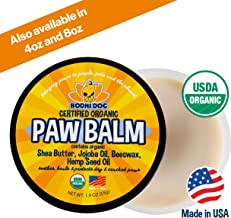 Organic Paw Balm for Dogs & Cats   All Natural Soothing & Healing for Dry Cracking Rough Pet Skin   Protect & Restore Cracked and Chapped Dog Paws & Pads   Better Than Paw Wax