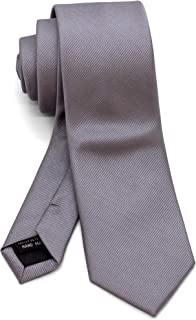 WANDM Men's Slim Skinny Tie Necktie Width 2.4 inches Washable Plain Solid Color