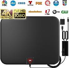 [Latest 2020] Amplified HD Digital TV Antenna Long 200 Miles Range – Support 4K..