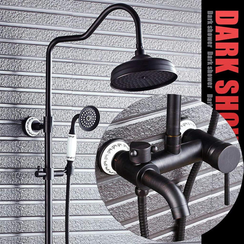 LHW Shower Set chset, schwarz antik, Kupfer, dusche, dusche, Kupfer, Retro, europisch, Badezimmer, düse, Wasserhahn, duschset