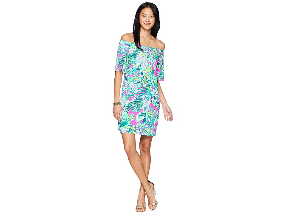 Lilly Pulitzer Fawcett Off-The-Shoulder Dress (Multi Early Bloomer) Women