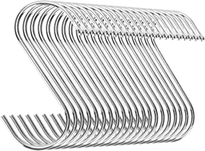 Emoly 20 Pack Heavy Duty s Hooks Stainless Steel S Shaped Hanging Hooks Hangers for Kitchen, Bathroom, Bedroom and Office,...