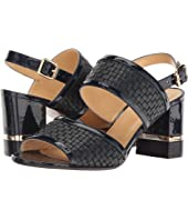a. testoni - Nappa and Patent Leather Strap Heel
