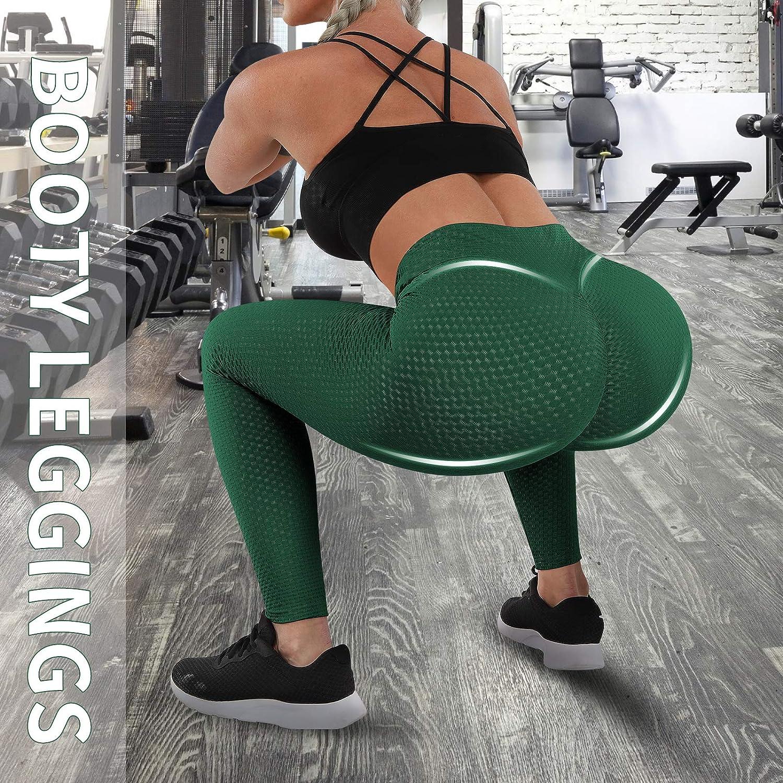 High Waist Butt Lifting Leggings for Women Anti Cellulite Workout Yoga Leggings Scrunch Booty Lifting Running Tights