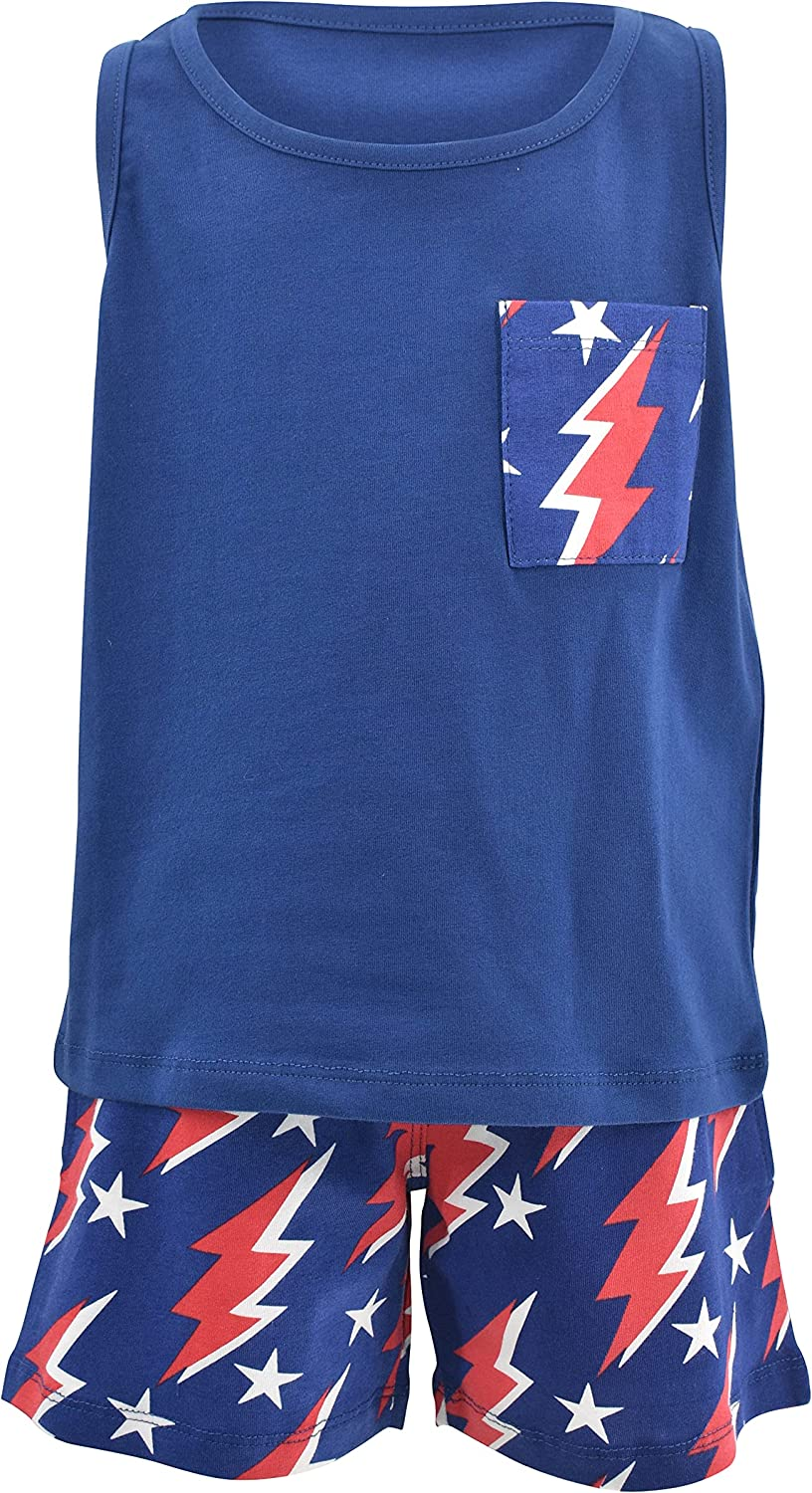 Unique Baby Boys Lightning 4th of July Patriotic Shorts Outfit