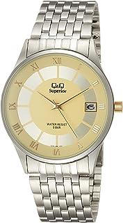 [西铁城 Q&Q]CITIZEN Q&Q 手表 SUPERIOR 不锈钢 款式 指针式 日历 显示 手镯式 金色 S288-206 男士
