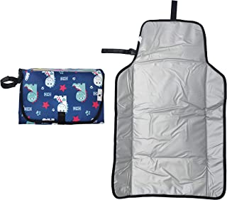 Baby Changing Pad Portable with a Pocket for Diapers,Diaper Bag,Waterproof and Lightweight Changing Mat,Cute Dinosaur Pattern