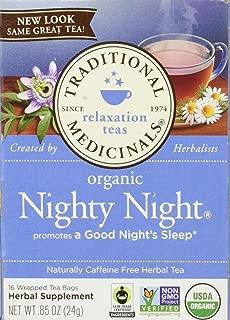 Traditional Medicinals Organic Nighty Night Tea, Caffeine Free, 16 Count
