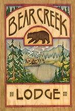Toland Home Garden Bear Creek Lodge 12.5 x 18 Inch Decorative Outdoors Lake Cabin Wildlife Animal Garden Flag