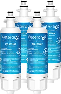 Waterdrop LT700P NSF 42&372 Certified Refrigerator Water Filter, Compatible with LG LT700P, ADQ36006101, Kenmore 469690, 9690, ADQ36006102, Pack of 4