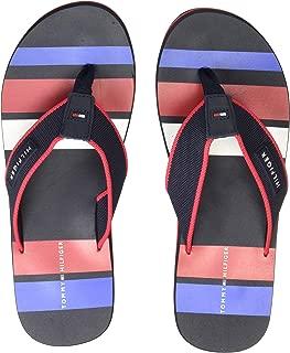 Tommy Hilfiger Men's Rubber Patch Beach Sandal Flip-Flops
