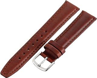Hadley-Roma Men's MSM881RAC-180 18mm Honey Oil-Tan Leather Watch Strap