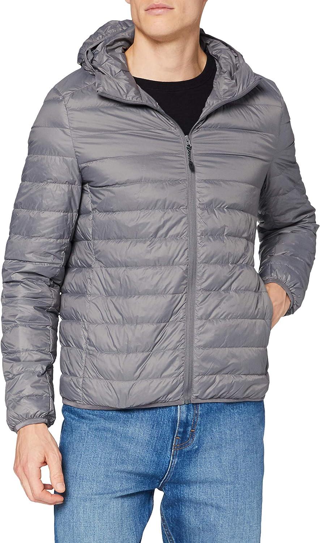 Urban Classics Basic Hooded Down Jacket Chaqueta para Hombre