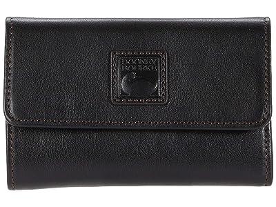 Dooney & Bourke Florentine Flap Wallet (Black) Handbags