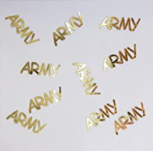 Metallic Confetti Word - ARMY in 12 Colors (Also Available in Paper) #4109