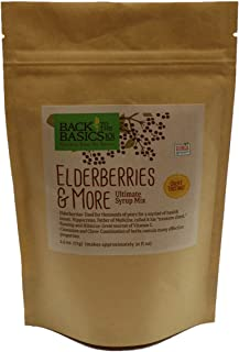 Elderberries & More Ultimate Syrup Mix - Makes Approx. 32 oz with Honey - Organic Dried Ingredients -Included Tea Bag - Elderberry, Rosehips, Hibiscus, Cinnamon Stick, and Whole Cloves