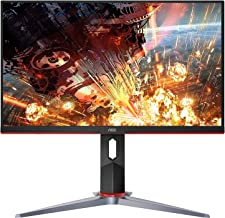 "AOC 24G2 24"" Frameless Gaming IPS Monitor, FHD 1080P, 1ms 144Hz, Freesync, HDMI/DP/VGA, Height Adjustable, 3-Year Zero Dea..."