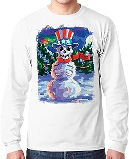 تي شيرت بأكمام طويلة مرسوم عليه رجل الثلج من Liquid Blue Uncle Sam